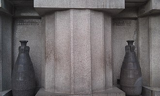 Civico Mausoleo Palanti - Image: Mausoleo Civico Palanti Mario Palanti Architetto MCMXXIX ANNO VII