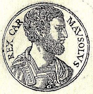 Mausolus - Mausolus from Guillaume Rouillé's Promptuarii Iconum Insigniorum (Lyon, 1555)