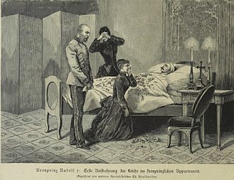 Mayerling incident - Emperor Franz Joseph and Empress Elisabeth grieve over their son