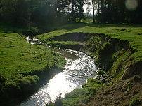 zelf gemaakte foto De geul in Limburg in de bu...