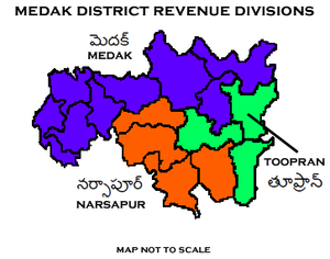 Medak district - Medak District Revenue divisions