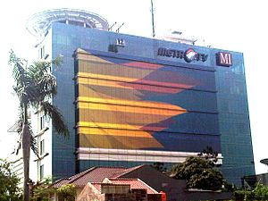 MetroTV - Media Group office in Kebon Jeruk, West Jakarta, the headquarters of Metro TV.