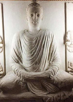 Taxila Museum - 4th Century Meditating Budha at Taxila Museum
