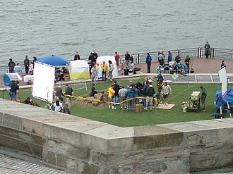 Meet Dave - Film set at the Statue of Liberty in June 2007.