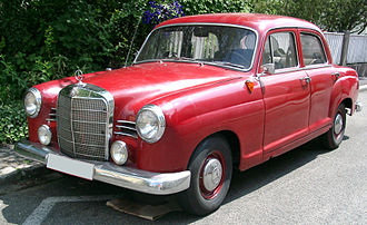 Mercedes-Benz W120 - For the 1960 model year the car received a wider grill.