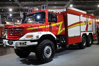 Heavy rescue vehicle - A Mercedes-Benz Zetros for the German fire services