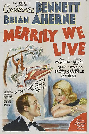 Merrily We Live - Theatrical release poster