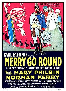 <i>Merry-Go-Round</i> (1923 film) 1923 film by Erich von Stroheim, Rupert Julian