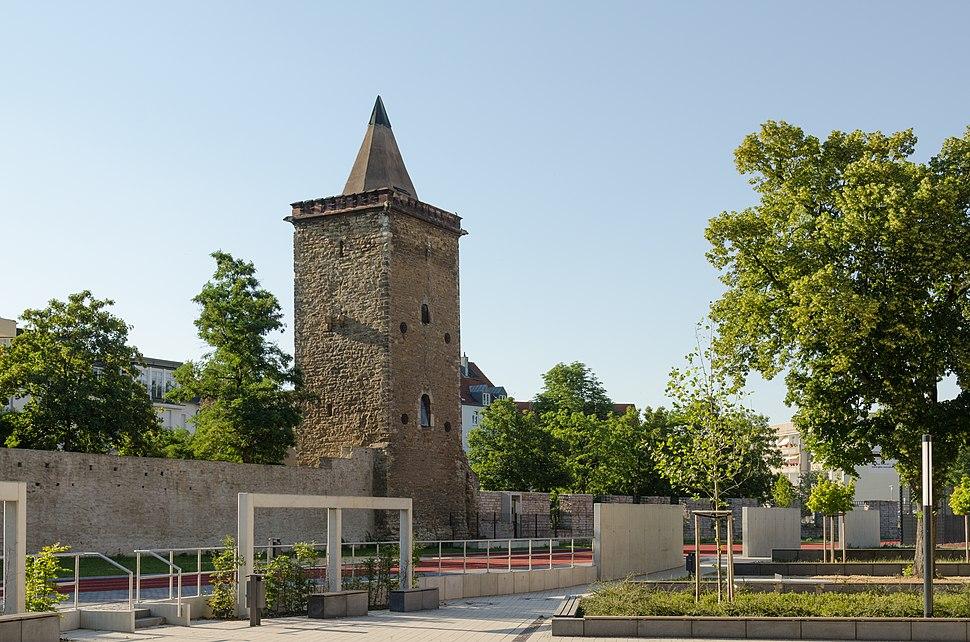 Merseburg, Stadtbefestigung, Eulenturm, 001