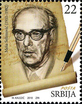 Meša Selimović - Meša Selimović on a 2010 Serbian stamp