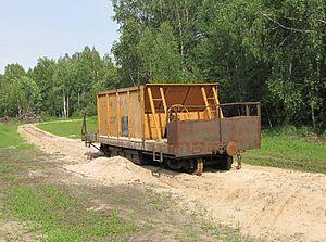 Solotchinskoye peat narrow-gauge railway - Image: Mesherskoye peat enterprise 1
