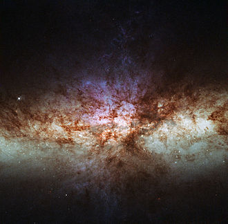 Starburst galaxy - Messier 82 is the prototype nearby starburst galaxy about 12 million light-years away in the constellation Ursa Major.