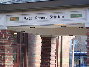 95th Street–Beverly Hills (Metra station) - Image: Metra (RI) 95th Beverly Hills Station