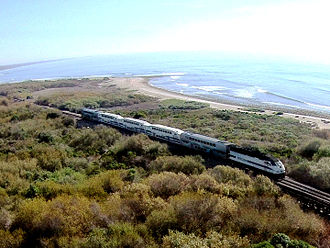 San Onofre State Beach - The rail line for which Trestles is named