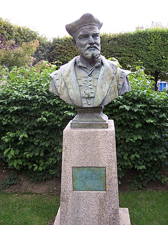 François Rabelais - Bust of Rabelais in Meudon, where he served as Curé