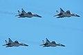 MiG-29SMT formation at Zhukovsky 2012 (8623297605).jpg