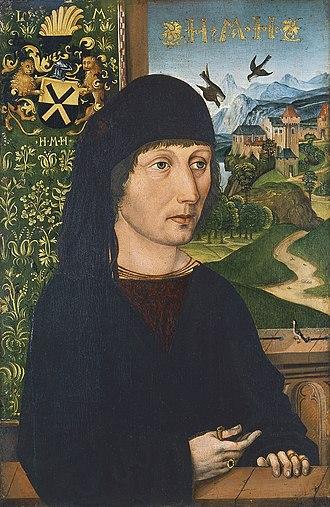 Michael Wolgemut - Image: Michael Wolgemut Bildnis des Levinus Memminger (Museo Thyssen Bornemisza)