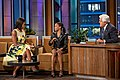 "Michelle Obama and U.S. Olympic gymnast Gabby Douglas at ""The Tonight Show with Jay Leno"", 2012.jpg"