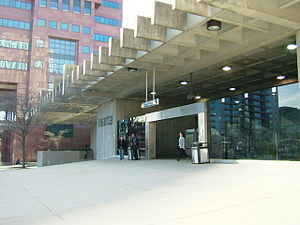 Midtown MARTA Station - Peachtree Place entrance.jpg
