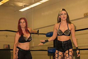 Sienna (wrestler) - Kay and Sassy Stephie (left) as The Midwest Militia