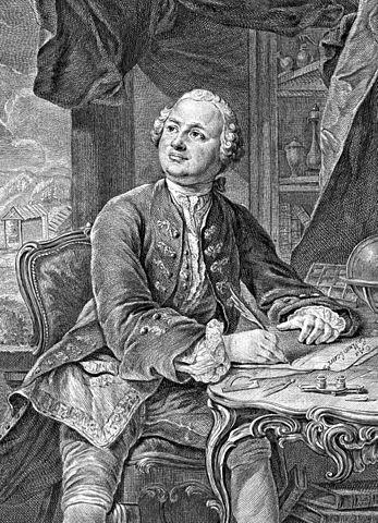 М.В.Ломоносов. Гравюра Э. Фессара и К.А.Вортмана, 1757