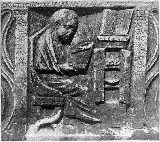 Milkau Ein Römer liest eine Schriftrolle 83-2