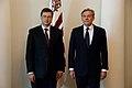 Ministru prezidents Valdis Dombrovskis tiekas ar Lietuvas Republikas ārlietu ministru Audroņu Ažubali (7285586804).jpg