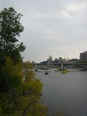General Mills - Former site of General Mills today on the Mississippi River at Minneapolis