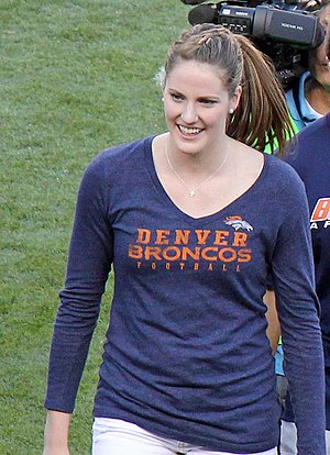 Missy Franklin - Franklin at an NFL game between the Denver Broncos and Pittsburgh Steelers on September 9, 2012