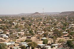 View of Mochudi in August 2007