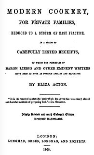 <i>Modern Cookery for Private Families</i> book by Eliza Acton