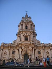 La facciata della Chiesa Madre di San Giorgio