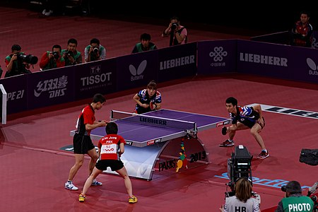 Mixed Doubles Finals, 2013 World Table Tennis Championships.