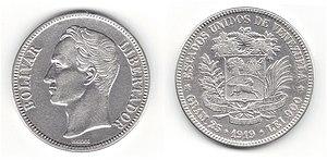 Coin of Venezuela (Fuerte 1919)