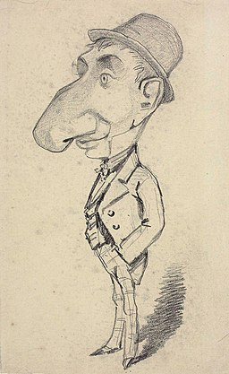 Monet - Caricature of a Man with a Large Nose, 1855-56, 1933.895