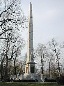 Monumento conmemorativo cerca del lugar de la batalla.