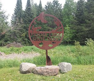 Moose Lake State Park - Entrance sign