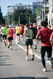 Long-distance running athletic event