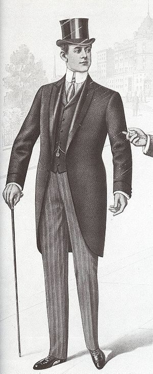 History of suits - 1901, a man in a morning coat.