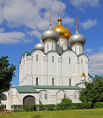 Novodevichy Convent - Cathedral of Our Lady of Smolensk at the Novodevichy Convent (16th century).