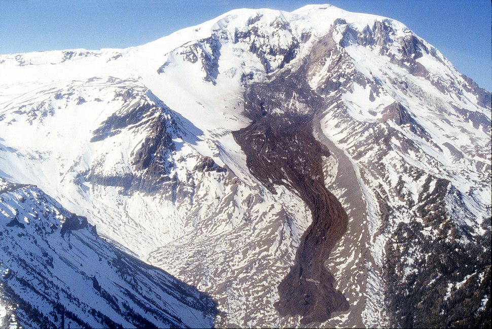 Mount Adams rock and ice debris avalanche