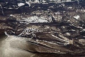 Stratton Mountain (Vermont) - Aerial photo of Stratton Mountain Ski Area, January 2009