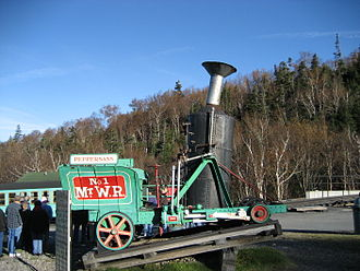 Mount Washington Cog Railway - Peppersass, built in 1866 and first known as Hero, displayed at the Base Station in 2006