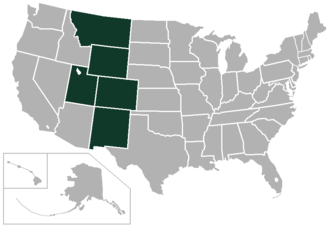 Mountain States Conference - Image: Mountain States Conference USA states