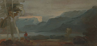Mountainous Landscape with Figures and Cattle