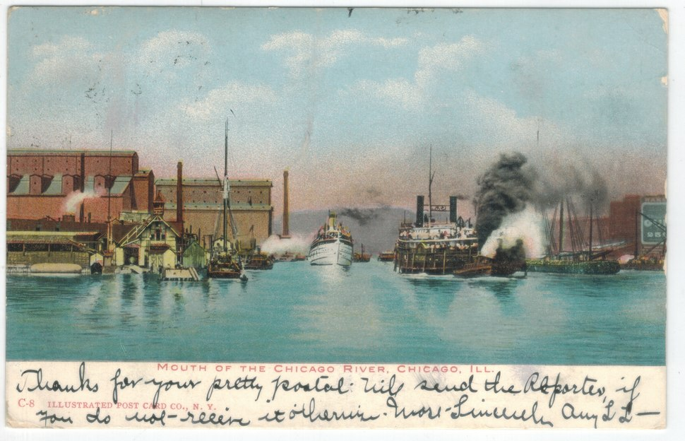 Mouth of the Chicago River, Chicago, Ill. (front)