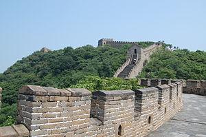 English: Great Wall of China at Mutianyu