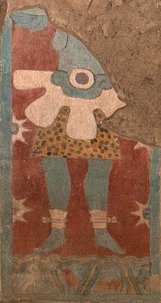 Scorpion man - Image: Mural Del Templo De Venus(left)