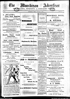 <i>Rushworth chronicle and Goulburn advertiser</i> defunct newspaper in regional Victoria