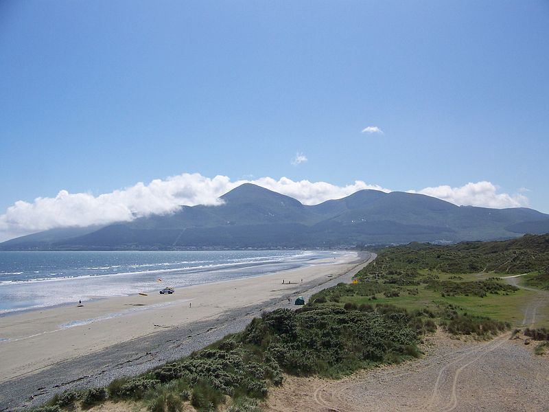 Murlough Beach with the Mourne Mountains in the background, Northern Ireland